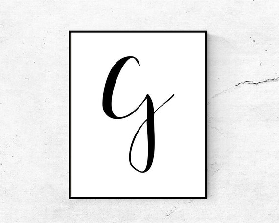 photo regarding Letter G Printable referred to as Letter G printable first, Nursery wall artwork letter printable, 1st print, Printable monogram G, Electronic obtain letter poster