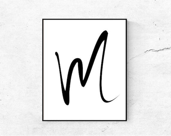 Lettre M Imprimable Initiale Lettre Dart Murale De Pépinière Imprimable Impression Initiale Monogramme Imprimable M Affiche De Lettre