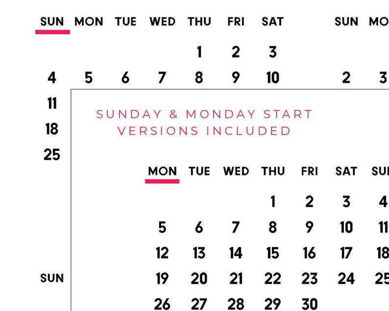 2021 year at a glance PRINTABLE calendar PDF 2021 calendar ...