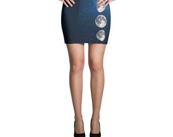 Midnight Moon Mini Skirt