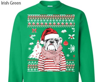 french bulldog christmas sweater etsy