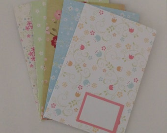floral blank note cards set of 5