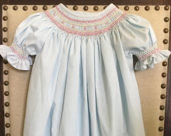 Handsmocked 12M Bishop Dress