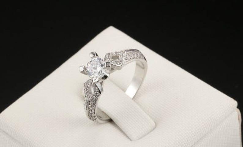 Cubic Zirconia Promise Ring