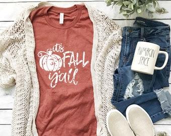 93746b1a It's Fall Yall Shirt, Fall Shirt, Fall Tshirts, Fall Shirt Women, Pumpkin  Shirt, Womens Fall Shirt, Womens Fall Graphic Tees, Autumn Shirts
