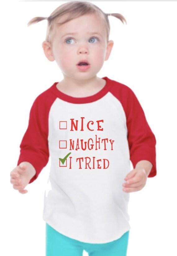 Coquine Belle Chemise Enfants Noel Chemise Chemise Drole Etsy