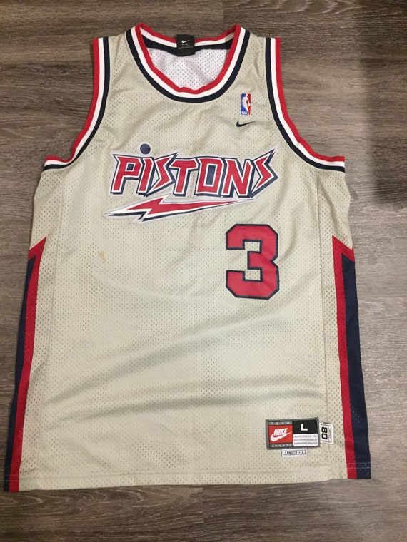 3dda2975e Retro throwback NBA Detroit Pistons 3 Ben Wallace Jersey