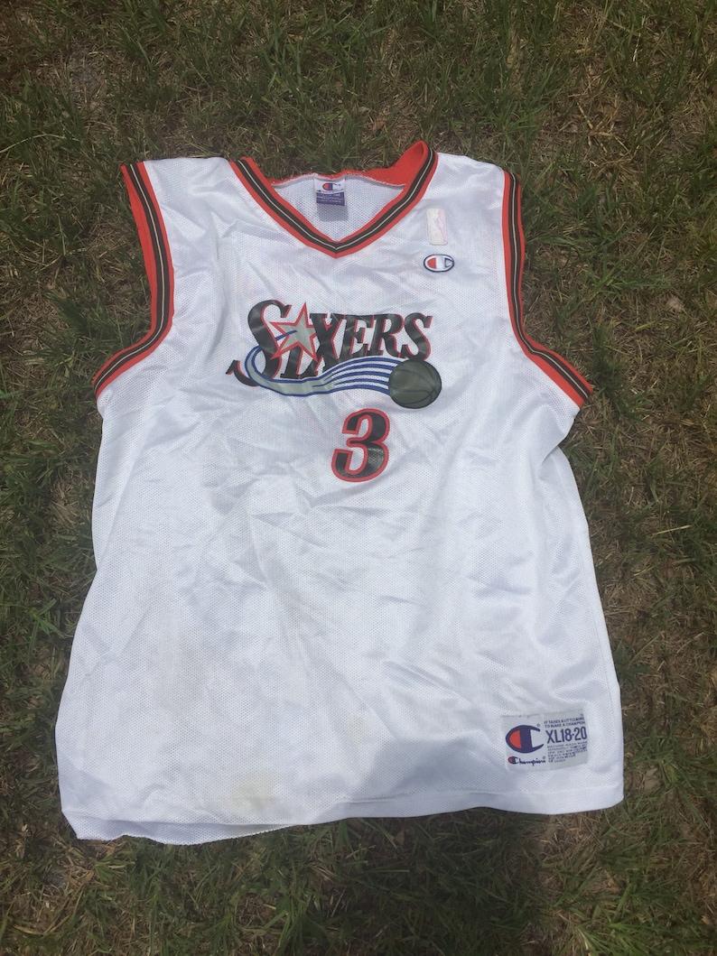 Vintage Champion Philadelphia 76ers Allen Iverson Jersey