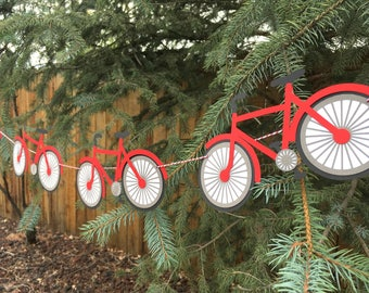 Bicycle Banner -- pick your colors! Bike, Mountain Bike, Mens, Boys, Baby Shower, Nursery, Birthday Party