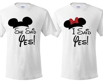 Disney themed couples engagement t-Shirt