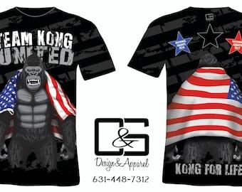 Team Kong United Wrestling t shirts