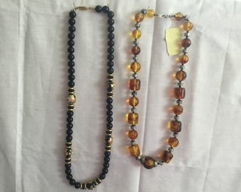 two beaded  necklace