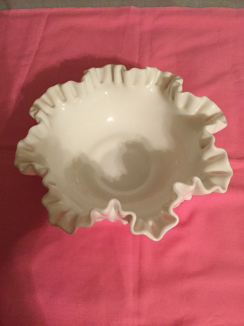 Vintage  Fenton  milk glass bowl