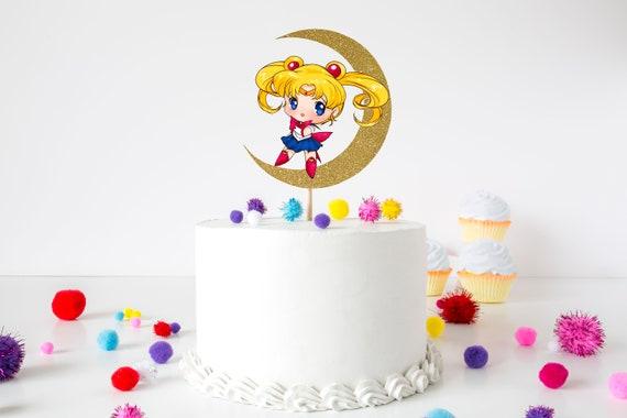 Awe Inspiring Chibi Sailor Moon Inspired Cake Topper Sailor Moon Cake Topper Etsy Personalised Birthday Cards Paralily Jamesorg