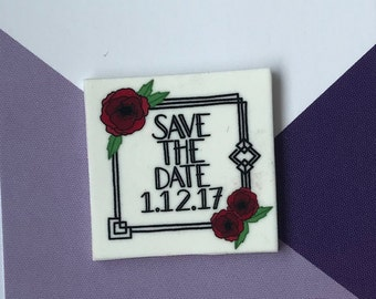 Art Deco Design - Save the Date Pin