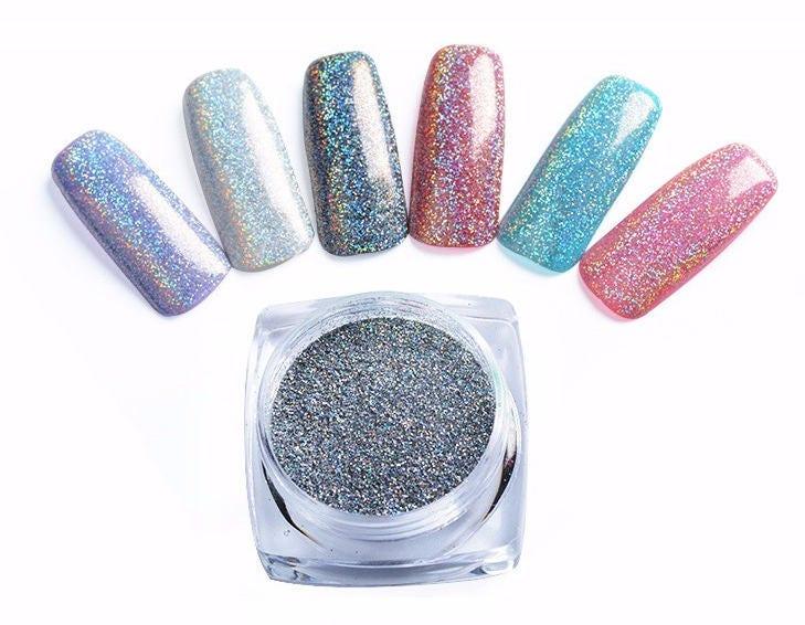 Galaxy Holo Nail Glitter Holographic Nail Powder Holo Nail | Etsy