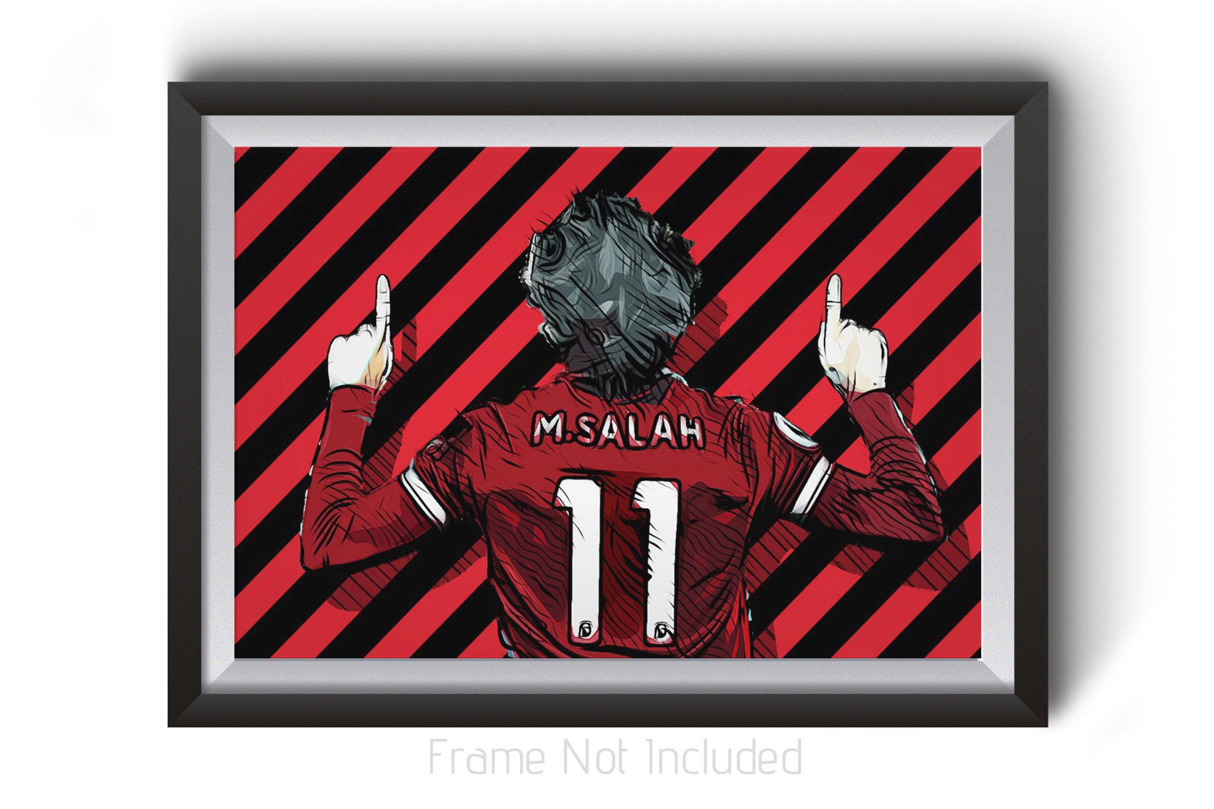 b6d01dac4 Mohamed Mo Salah Poster Liverpool FC Wall Art Prints LFC