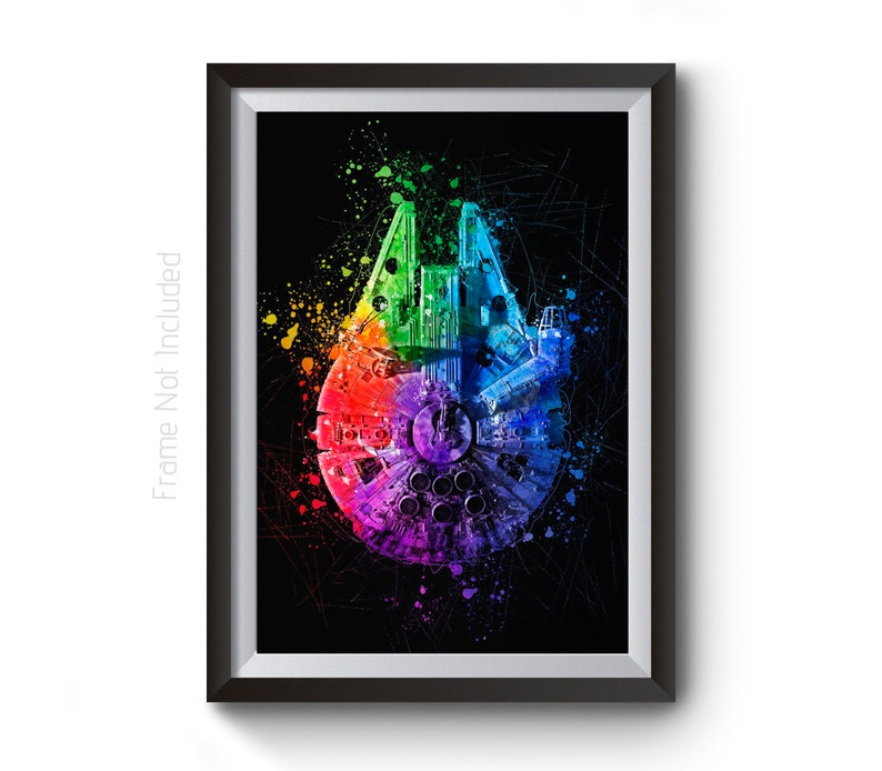 273d6ba8bf5 Star Wars Poster Millennium Falcon Abstract Painting Wall Art