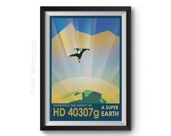 Space Tourism Posters - HD 40307g Nasa Space Travel Prints - Visions of the Future Artwork - Travel Art Prints