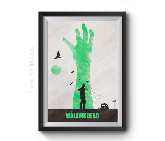 Walking Dead Poster TWD Wall Art Zombie Posters Negan | Etsy