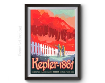 NASA Space Art - Kepler 186f Space Travel Posters - JBL Visions of the Future Artwork - Time Travel Art Prints