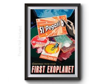51 Pegasi-B Nasa Space Travel Print - Space Tourism Poster - Visions of the Future Artwork - Travel Art Prints