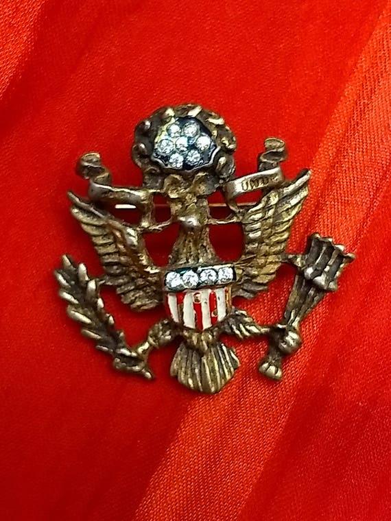 REJA WWII Vermeil Army Insignia Brooch RARE ~ Vint