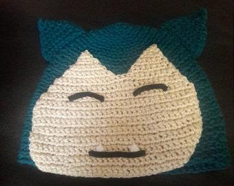 Snorlax Crochet Hat