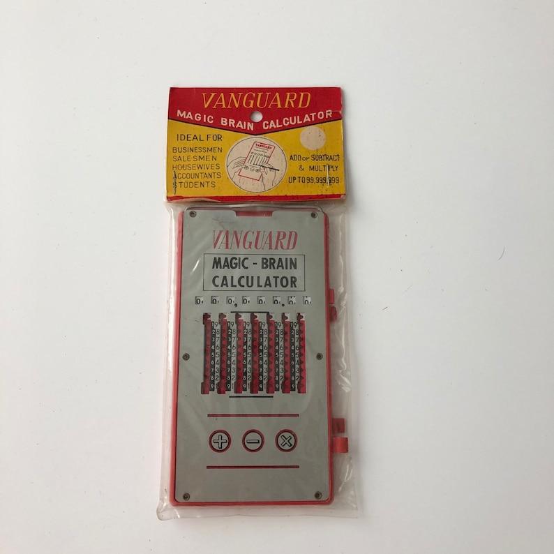 vintage calculator device Vanguard Magic Brain Calculator