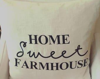 Home Sweet Farmhouse Pillow / Farmhouse decor / Rustic
