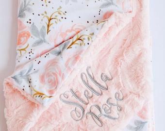 Baby Girl Blanket Etsy