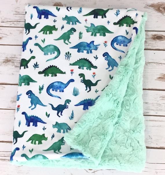 085aa959d7 Minky Baby Blanket Dinosaur Blanket Stroller Blanket