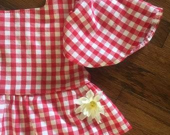5a4457c2ecf22 Gingham crop top  toddler crop top  red gingham crop top  girls crop top   cowgirl top  red crop top