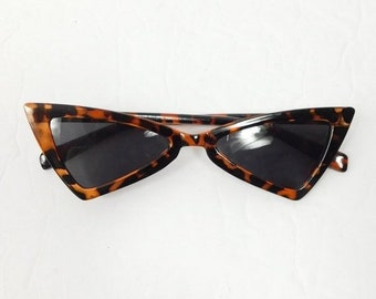 60c0d554dc75 40% OFF VDAY SALE Vintage Cheetah Print Brown Retro Triangle Shape Cat Eye  Classic Standard Fashion Sunglasses Frame Lens Glasses Eyewear