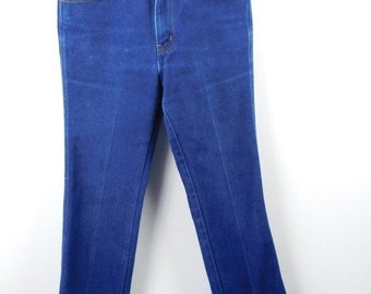 2f1a0335b387c2 50% SUMMER SALE Mens Vintage 1980s Authentic Chaps Dark Blue Duck  Embroidered Denim Jean Hipster Regular Fit Pants Grunge Sz 29W x 30