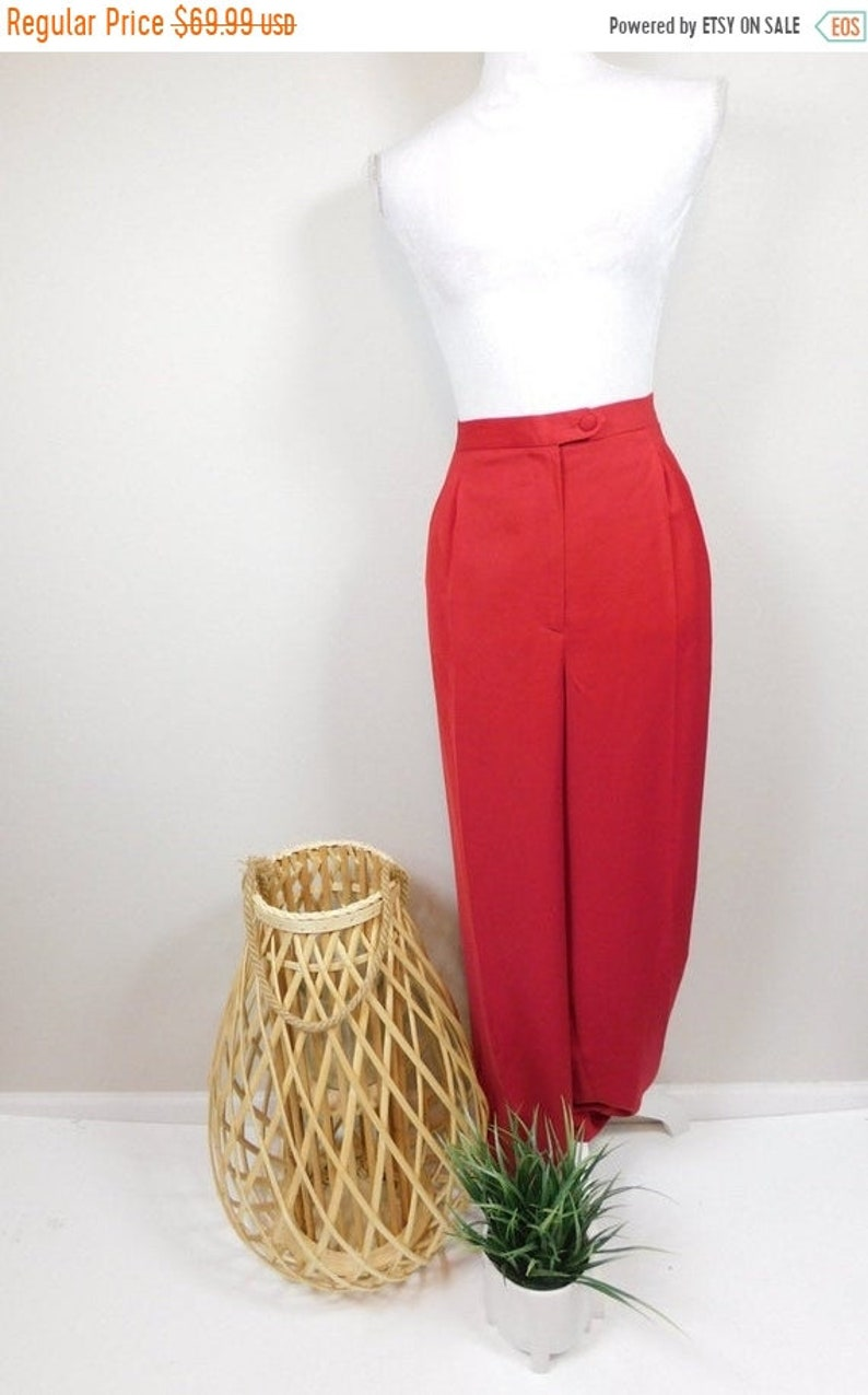 50% OFF FALL SALE Vintage Terramina Bright Red High Waist image 0