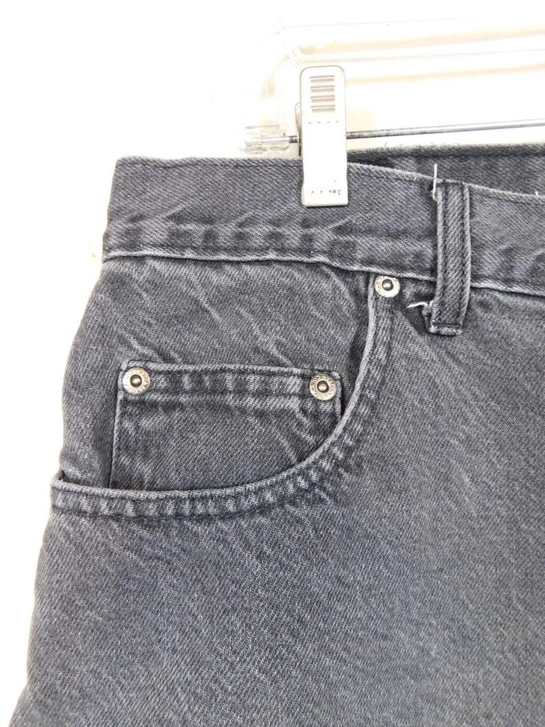50/% OFF SPRING SALE Mens Vintage 1980s The Arizona Company Loose Fit Black Faded Denim Jean Cotton Grunge Jeanswear Shorts Sz 38 Waist
