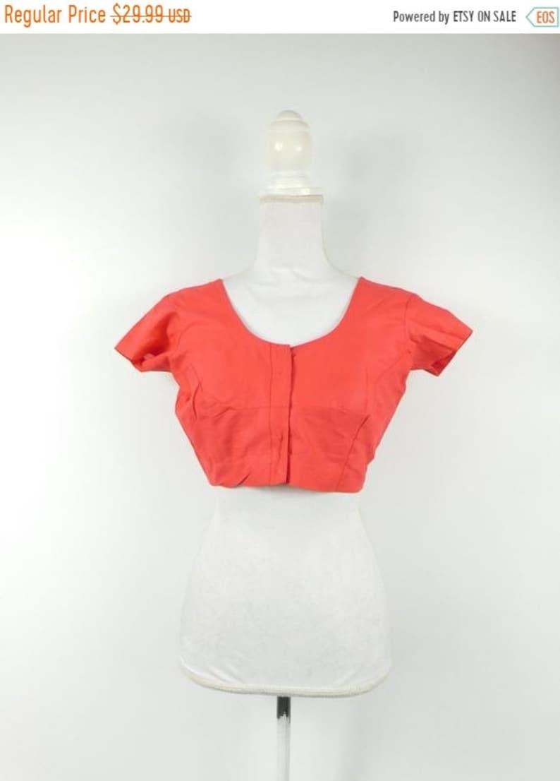 50% YAY 2020 SALE Vintage 1990s 90s Indian Fire Orange Red image 0