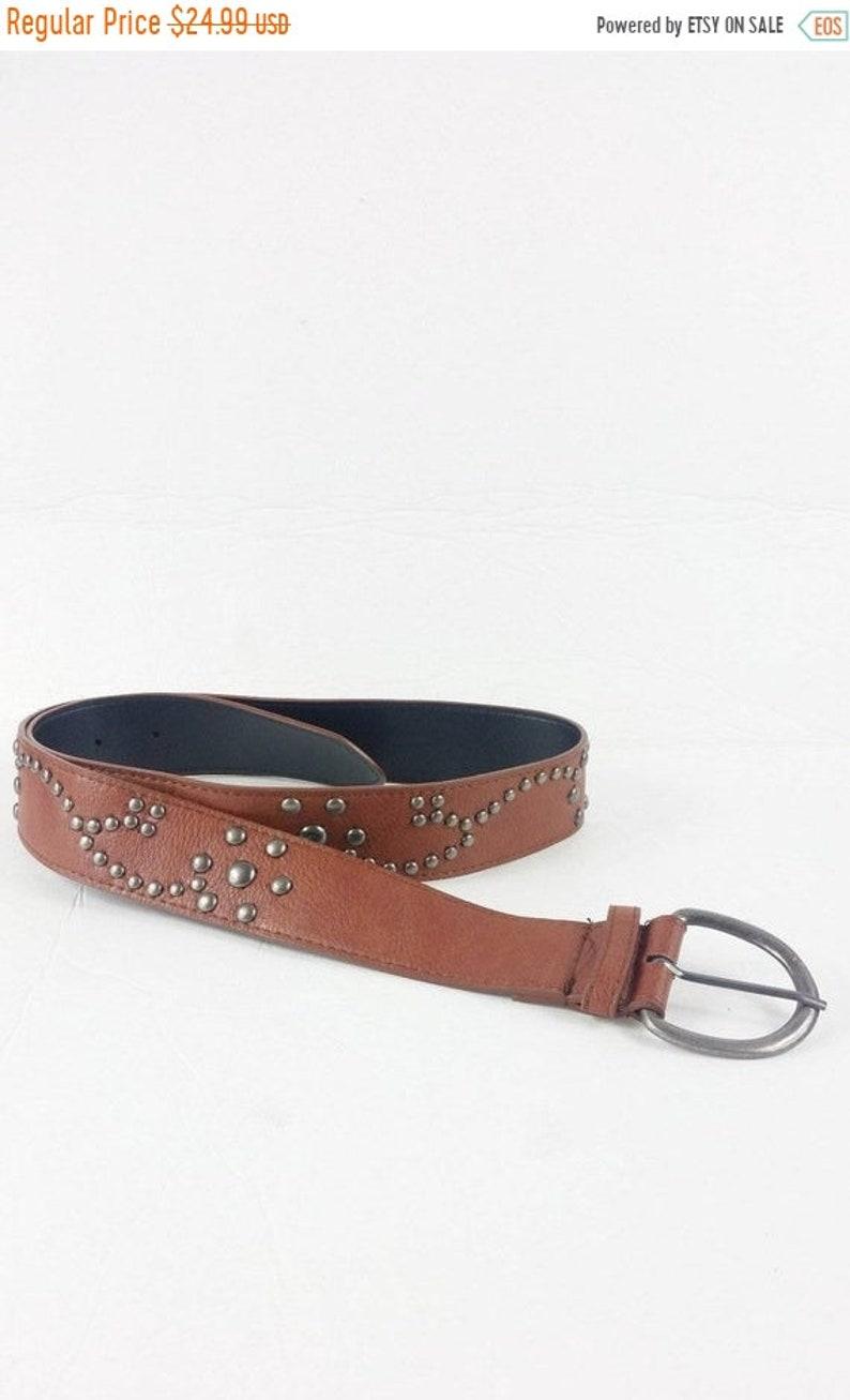 50% YAY 2020 SALE Vintage 1980s Tan Cognac Brown Faux Leather image 0