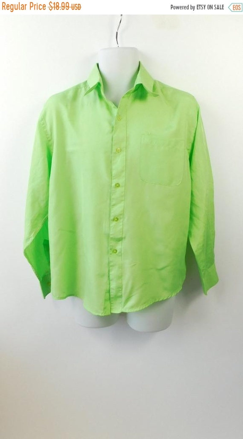 3cf7cf4e 50% SUMMER SALE Vintage Mens George Martin Bright Lime Green | Etsy
