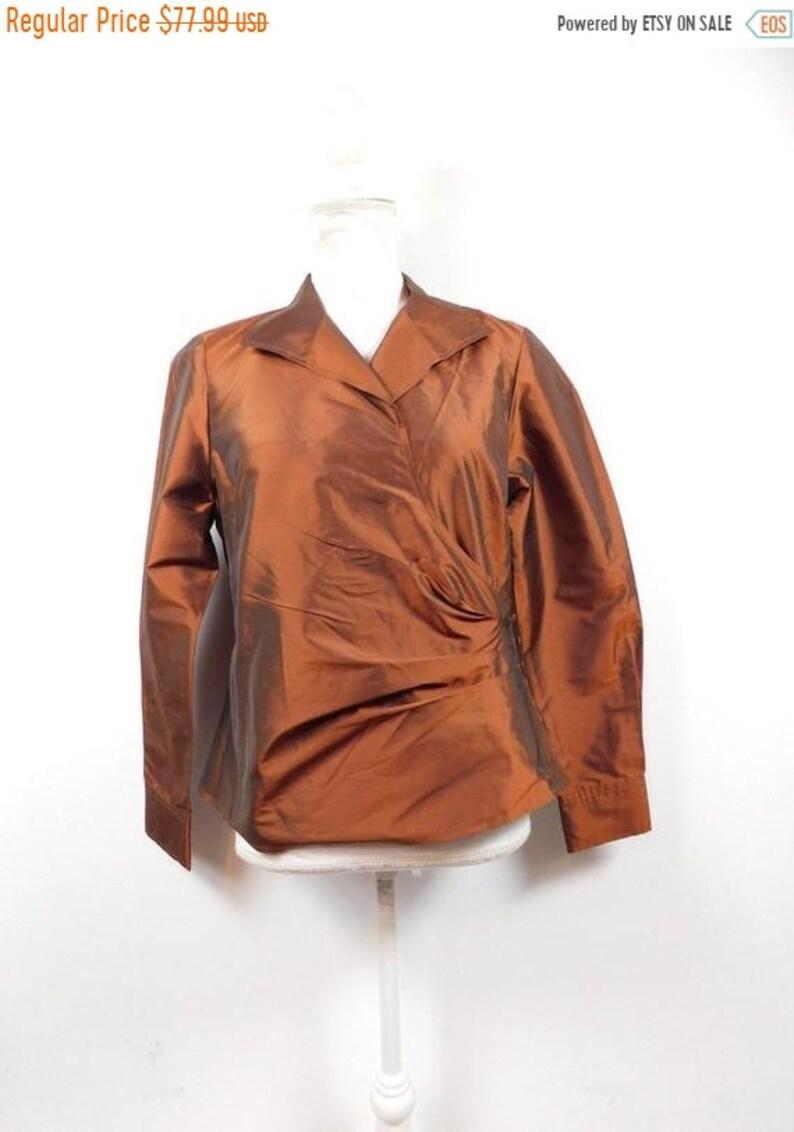 50% YAY 2020 SALE Vintage Ellen Tracy Bronze Metallic Copper image 0