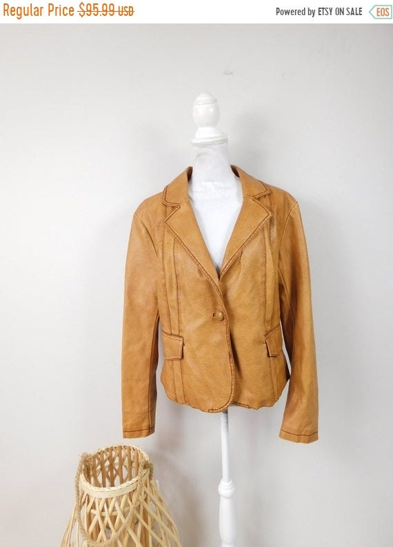 50% OFF FALL SALE Vintage 90s Frida G. Tan Brown A