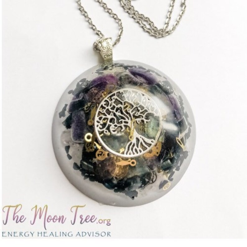 Orgonite ™ Pendant: Tree of Life Orgone Energy Necklace image 0