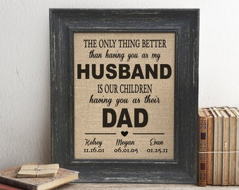 5f8acf3a917 Father's Day Gift From Kids Baby Son Daughter Wife The Only Thing Better  Than Having You As My Husband Personalized Picture Frame On Sale