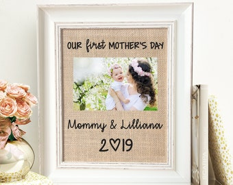 03a2a0b51656 First Mother s Day Gift Frame From Kids For Mommy New Mom Personalized Wood  Picture Frame From Baby To Wife Fom Husband On Sale