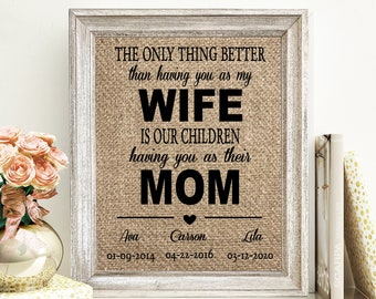 The only thing better than having you as a Mother Gift from Son Personalized Frame Mother/'s Day Mom Mother Gift Gift from Daughter