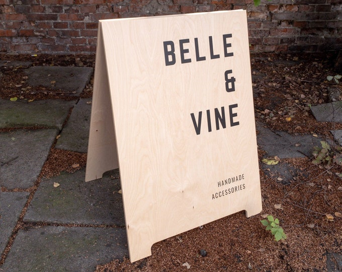 Personalized sandwich board, A frame sign for B2 posters or custom design