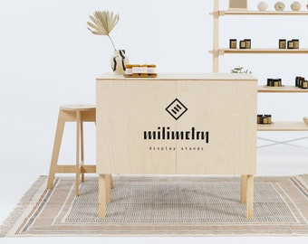 SET: Pop up counter VC-03 + Plywood stool