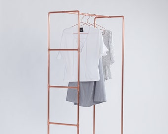 Copper pipe clothes and accessories rail #4 for trade show fashion week | copper pipe garment & accessories rack | shop retail display