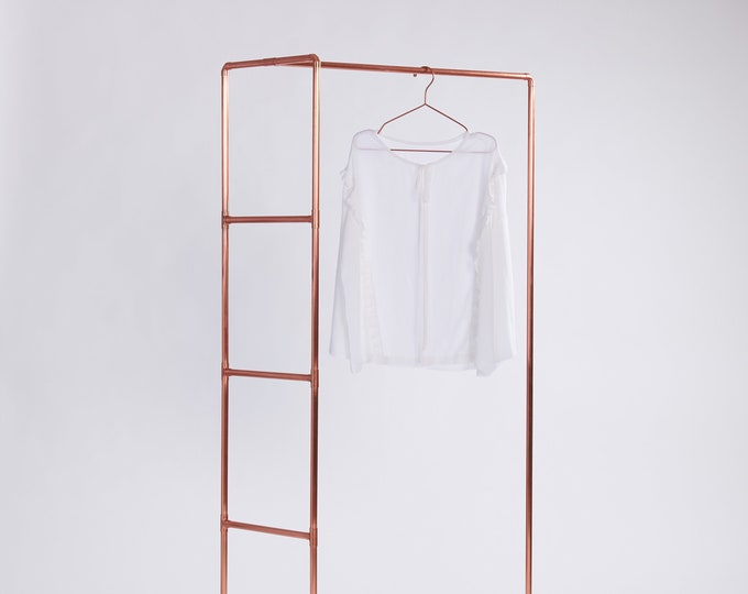 Designer clothes rail collection display CR-02 | dress display | copper pipe garment & accessories rack | fair and shop retail display